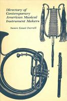 Directory of Contemporary American Musical Instrument Makers PDF
