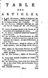 Bibliothèque raisonnée des ouvrages des savans de l'Europe: Volume 6