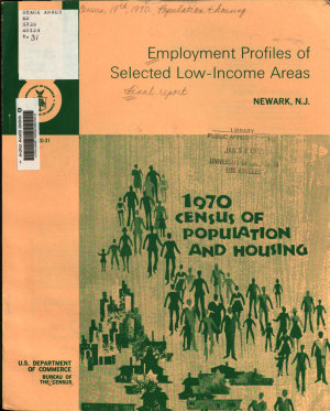 1970 Census of Population and Housing  Employment Profiles of Selected Low income Areas