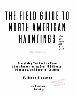 The Field Guide to North American Hauntings PDF