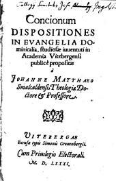 Concionum dispositiones in evangelia dominicalia ...