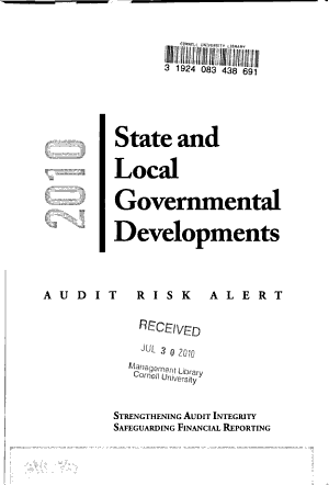 State and Local Governmental Developments PDF