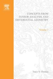 Concepts from Tensor Analysis and Differential Geometry by Tracy Y Thomas