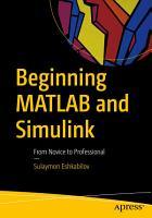 Beginning MATLAB and Simulink PDF