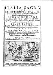 Italia sacra: Volume 3