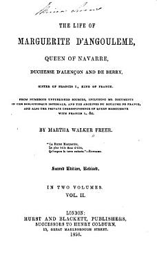 The Life of Marguerite D Angoul  me Queen of Navarre  Duchesse D Alen  on and de Berry     PDF