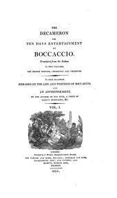 The Decameron: Or Ten Days Entertainment of Boccaccio, Volume 1