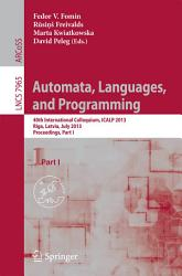 Automata Languages And Programming Book PDF