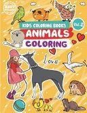 Kids Coloring Books Animals Coloring PDF