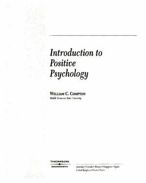 An Introduction to Positive Psychology