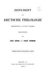 Zeitschrift für deutsche Philologie: Band 24