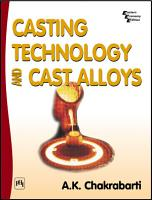 CASTING TECHNOLOGY AND CAST ALLOYS PDF