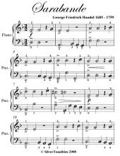 Sarabande Easy Piano Sheet Music