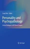 Personality and Psychopathology PDF