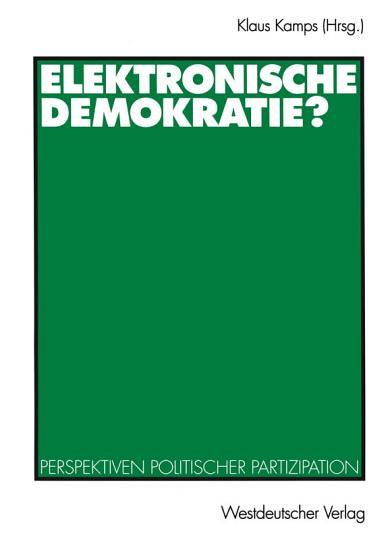 Elektronische Demokratie  PDF