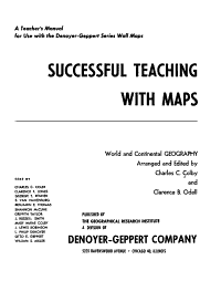 Successful Teaching with Maps PDF