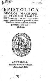Epistolica studiosis traiectinae scholae ...