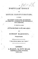 A popular essay on entire sanctification   c    PDF