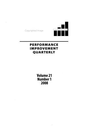 Performance Improvement Quarterly