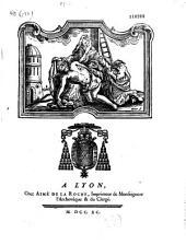 Mandement de Monseigneur l'archevêque et comte de Lyon, pour le carême. Yves Alexandre de Marbeuf ...