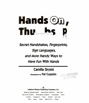 Hands On  Thumbs Up PDF