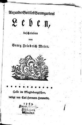 Alexander Gottlieb Baumgartens Leben PDF