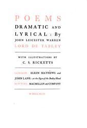 Poems Dramatic and Lyrical: Volume 1