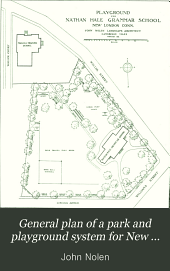 General Plan of a Park and Playground System for New London, Conn