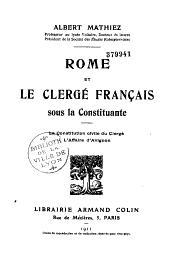 Rome et le clergé français sous la constituante