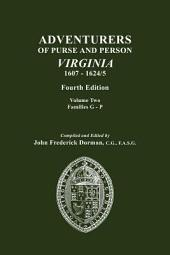 Adventurers of Purse and Person, Virginia, 1607-1624/5: Families G-P