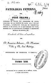 Patología interna: Volumen 13