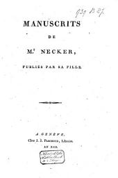 Manuscrits de Mr. Necker