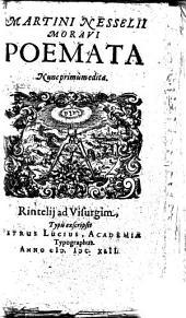 Poemata nunc primum ed