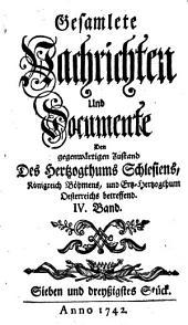 Gesamlete Nachrichten Den gegenwärtigen Zustand des Herzogthums Schlesien betreffend: Band 37