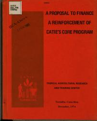 A Proposall To Finance A Reinvorcement Of Catie S Core Program Book PDF