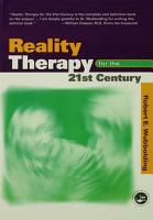 Reality Therapy For the 21st Century PDF