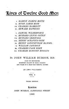 Lives of Twelve Good Men PDF