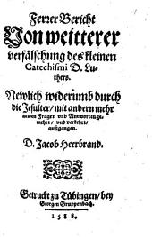 Ferrer Bericht von weitterer verfälschung des kl. Catechismi d. Luthers