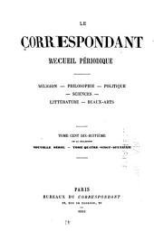 Le Correspondant: Volume118