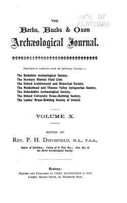 The Berks  Bucks   Oxon Arch  ological Journal PDF