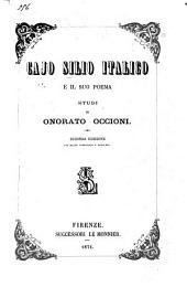 Cajo Silio Italico e il suo poema studi di Onorato Occioni