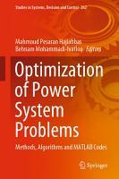 Optimization of Power System Problems PDF