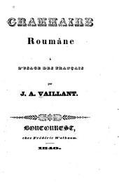 Grammaire roumâne à l'usage des français