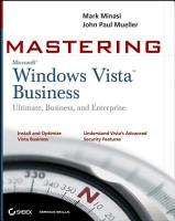 Mastering Windows Vista Business PDF