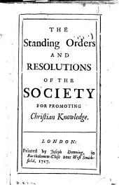 The standing orders and resolutions of the Society