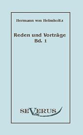 """Reden und Vortr""""ge: Band 1"""