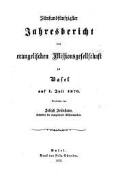 Jahresbericht der Basler Mission: Band 1870