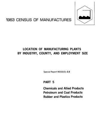 1963 Census of Manufactures  Manufacturing activity in government establishments PDF