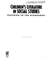 Children S Literature In Social Studies Book PDF