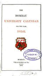 The Bombay university calendar